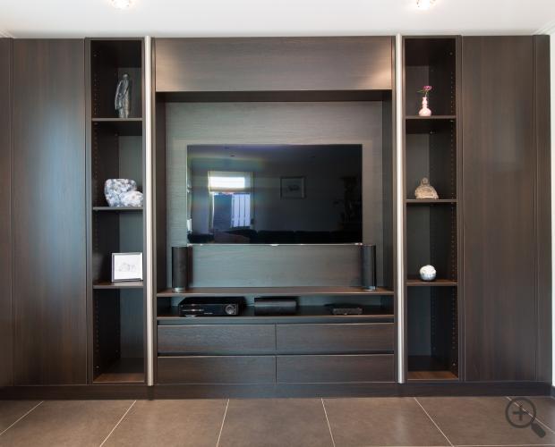Wand Tv Kast : Wand tv mbel tv wand meubel betina met kleur eik en wit with wand